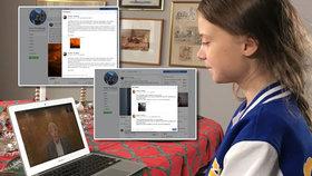 Greta Thunbergová zodpověděla otázky, které se vyrojily poté, co se provalilo, že příspěvky na facebookové stránce klimatické aktivistky upravoval i její otec Svante