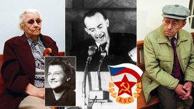 Komunističtí prokurátoři z éry děsivých monstrprocesů: Ludmila Brožová-Polenová, Josef Urválek a Karel Vaš