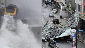 Anglii a Wales bičuje bouře Brendan, (15.01.2020).