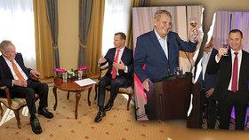 Konec rozhovorů Soukupa se Zemanem: Moderátor a šéf Barrandova přišel o pořady s prezidentem