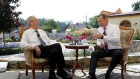 Týden s prezidentem na TV Barrandov je minulostí, Miloš Zeman dal Jaromírovi SOukupovi vale