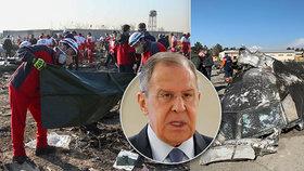 Podle ruského ministra zahraničí Sergeje Lavrova Íránce před sestřelením ukrajinského letadla vystrašily americké stíhačky.