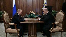 Nový ruský premiér Michail Mišustin a ruský prezident Vladimir Putin