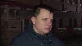 Velitel dobrovolných hasičů Jan Kuvik.