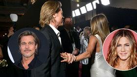 Brad Pitt a Jennifer Anistonová: Znovu se k sobě mají! Laškovali na předávání filmových cen.