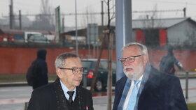 Šéf Senátu Jaroslav Kubera na kongresu ODS v sobotu 18. ledna 2020 (se senátorem Jiřím Oberfalzerem). V Pondělí 20. ledna náhle zemřel.
