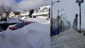 Sněhová bouře paralyzovala Španělsko i Kanadu.