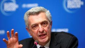 Vysoký komisař OSN pro uprchlíky Filippo Grandi na ekonomickém fóru v Davosu (21. 1. 2020)