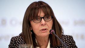 Novou prezidentkou Řecka se stala soudkyně Katerina Sakellaropulosová (63).