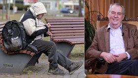 Zeman dal milost bezdomovci bojujícímu s rakovinou. Seděl za loupeže a krádeže (ilustrační foto)