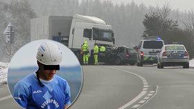 František zemřel ve svém autě pod koly kamionu