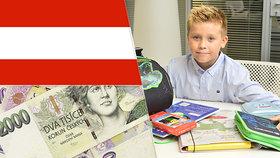 Rakousko utlo přídavky na děti cizincům, kteří nežijí v ČR. Už rok přichází 9500 dětí o tisíce korun měsíčně