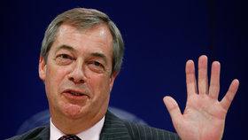 Britská rozlučka v EU kvůli brexitu: Britští europoslanci se loučí s Bruselem. Na snímku Nigel Farage.