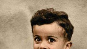Ištván Reiner (†4) na kolorizované fotografii.