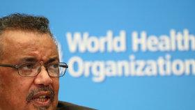 Generální ředitel WHO Tedros Adhanom Ghebreyesus vysvětloval, proč Světová zdravotnická organizace vyhlásila globální stav nouze kvůli koronaviru (30.1.2020).