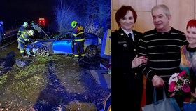 Řidička se lekla kočky a uvízla na přejezdu: Manželé ze Všejan zachránili ženě život!