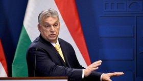 Maďarský premiér Viktor Orbán na tiskové konferenci v Budapešti (31.1.2020)