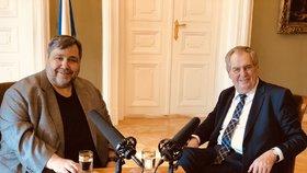 Prezident Miloš Zeman v rozhovoru pro regionální stanice Českého rozhlasu s moderátorem Lubošem Xaverem Veselým (5. 2. 2019)