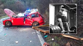 Na Jiřího v autě spadl strom. Zranění hlavy podlehl.
