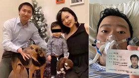 Doktor Li Wen-liang (†34) zemřel na koronavirus, před kterým varoval již loni. Nechal po sobě syna a těhotnou manželku, která přivedla na svět syna