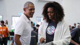Exprezident Barack Obama s manželkou Michelle.