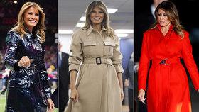 První dáma USA Melania Trumpová má celou sbírku kabátů.