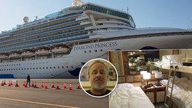 Pasažér Matthew Smith popsal karanténu na lodi Diamond Princess