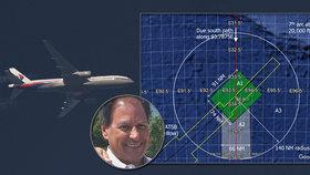 Americký vědec a jeho tým ukázali tři místa, kde se zřejmě zřítil ztracený let MH370.