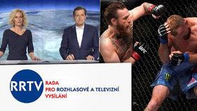 Rada pro rozhlasové a televizní vysílání upozornila televizi Nova na odvysílanou reportáž o zápasníkovi Conoru McGregorovi.