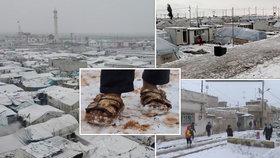 """""""Jako bychom žili na hřbitově."""" Sýrie se potýká s nízkými teplotami a sněhem, obyvatelé vyhnaní z domovů mrznou"""