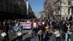 V Řecku se na protest proti důchodové reformě zastavila doprava. Odboráři se bojí o penze (18. 2. 2020).