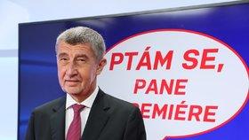 Premiér Andrej Babiš v pořadu Ptám se, pane premiére (19. 2. 2020)