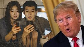 Trump se vztekal kvůli Oscarům; Nelíbí se mu, že cenu vyhrál film z Jižní Koreje