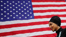Demokratická kongresmanka Ilhan Omarová.