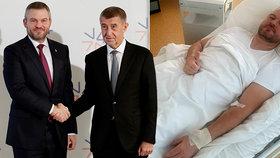Pellegrini hospitalizován v nemocnici v Bratislavě