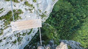 Rakouská hora Drachenwand u jezera Mondsee