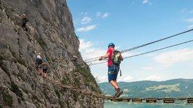 Rakouská hora Drachenwand u jezera Mondsee (ilustrační foto)