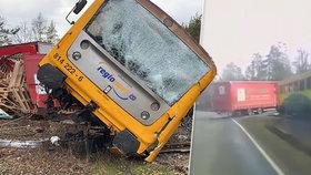 Drsná srážka kamionu s houkajícím vlakem: Řidiči za to hrozí pět let vězení!
