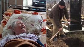 Xenii už kopali hrob, ona však zničehonic oživla.