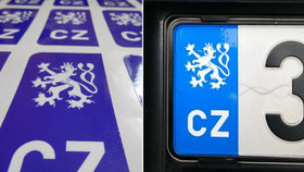 Lepení samolepky místo symbolu EU je podle ministerstva dopravy přestupek.