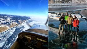Pilotům se podařilo přistát na Bajkalu.