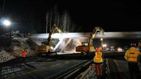 Rekonstrukce na dálnici D1 (29.2.2020)