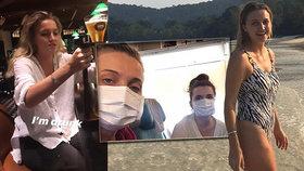 Kvůli koronaviru vypukla v letadle panika: Studentky měly jen kocovinu.