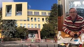 Základní škola Antonína Čermáka v Praze 6 a její ředitel Petr Karvánek.