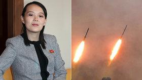 Kim Jo-čong, sestra severokorejského diktátora, okomentovala odpaly dvou raket.