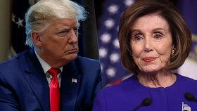 Šéfka amerických demokratů Nancy Pelosiová se pustila do prezidenta Trumpa.