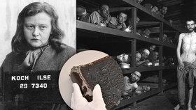 Šílená Ilse Kochová (†60) nechala z kůže vězňů vyrábět i fotoalba.