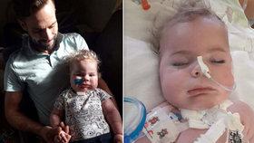 Oliver (1,5) trpí spinální svalovou atrofií. Chlapečkovi by výrazně pomohla léčba v USA, na tu rodina shání v přepočtu 50 milionů korun.