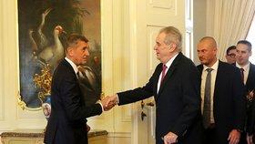Andrej Babiš s Milošem Zemanem v Lánech