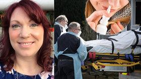Američanka Elizabeth Schneiderová (37) ze Seattlu porazila koronavirus, pomohl i sprej do nosu.